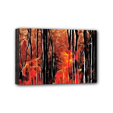 Forest Fire Fractal Background Mini Canvas 6  x 4