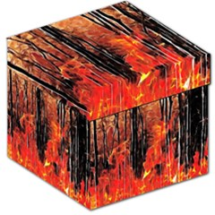 Forest Fire Fractal Background Storage Stool 12