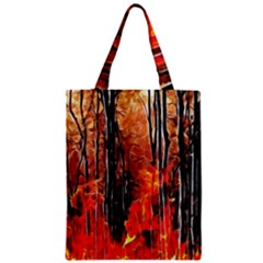 Forest Fire Fractal Background Zipper Classic Tote Bag