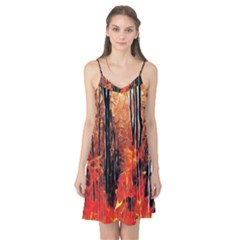 Forest Fire Fractal Background Camis Nightgown