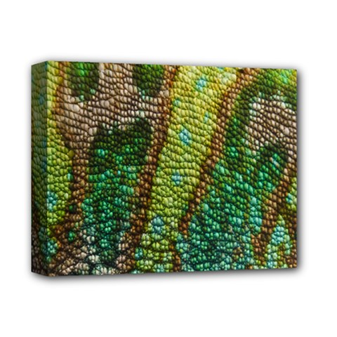 Colorful Chameleon Skin Texture Deluxe Canvas 14  x 11