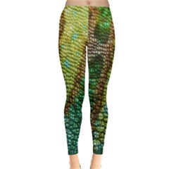 Colorful Chameleon Skin Texture Leggings