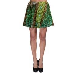 Colorful Chameleon Skin Texture Skater Skirt