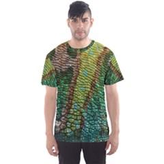 Colorful Chameleon Skin Texture Men s Sport Mesh Tee
