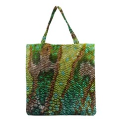 Colorful Chameleon Skin Texture Grocery Tote Bag