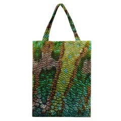 Colorful Chameleon Skin Texture Classic Tote Bag