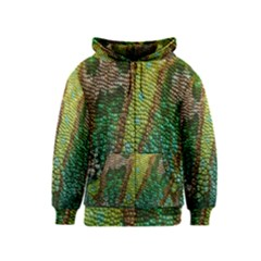 Colorful Chameleon Skin Texture Kids  Zipper Hoodie