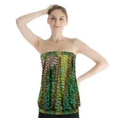 Colorful Chameleon Skin Texture Strapless Top