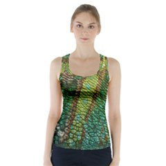 Colorful Chameleon Skin Texture Racer Back Sports Top