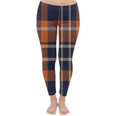 Tartan Background Fabric Design Pattern Classic Winter Leggings