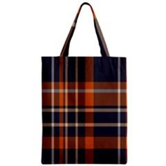Tartan Background Fabric Design Pattern Zipper Classic Tote Bag