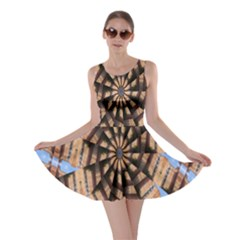 Manipulated Reality Of A Building Picture Skater Dress
