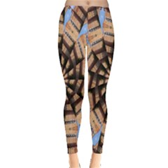 Manipulated Reality Of A Building Picture Leggings