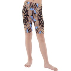 Manipulated Reality Of A Building Picture Kids  Mid Length Swim Shorts