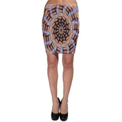 Manipulated Reality Of A Building Picture Bodycon Skirt