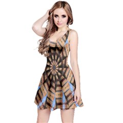 Manipulated Reality Of A Building Picture Reversible Sleeveless Dress