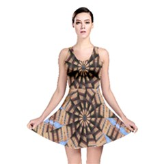 Manipulated Reality Of A Building Picture Reversible Skater Dress