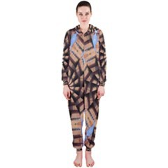 Manipulated Reality Of A Building Picture Hooded Jumpsuit (Ladies)