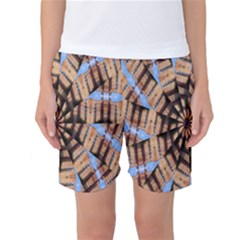 Manipulated Reality Of A Building Picture Women s Basketball Shorts
