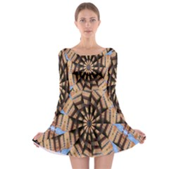 Manipulated Reality Of A Building Picture Long Sleeve Skater Dress