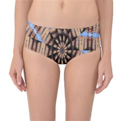 Manipulated Reality Of A Building Picture Mid Waist Bikini Bottoms