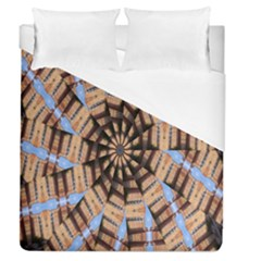 Manipulated Reality Of A Building Picture Duvet Cover (queen Size)