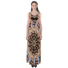 Manipulated Reality Of A Building Picture Empire Waist Maxi Dress