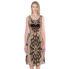 Manipulated Reality Of A Building Picture Midi Sleeveless Dress