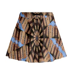 Manipulated Reality Of A Building Picture Mini Flare Skirt
