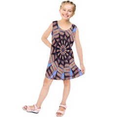 Manipulated Reality Of A Building Picture Kids  Tunic Dress
