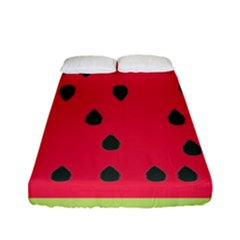 Watermelon Fan Red Green Fruit Fitted Sheet (full/ Double Size)