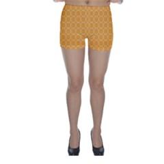 Yellow Circles Skinny Shorts