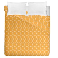 Yellow Circles Duvet Cover Double Side (queen Size)