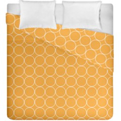 Yellow Circles Duvet Cover Double Side (king Size)