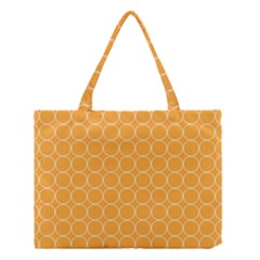 Yellow Circles Medium Tote Bag