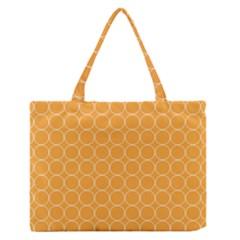 Yellow Circles Medium Zipper Tote Bag
