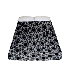 X Ray Rendering Hinges Structure Kinematics Circle Star Black Grey Fitted Sheet (full/ Double Size)