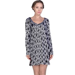 X Ray Rendering Hinges Structure Kinematics Circle Star Black Grey Long Sleeve Nightdress