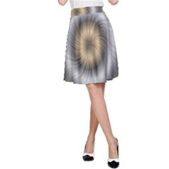 Prismatic Waves Gold Silver A Line Skirt
