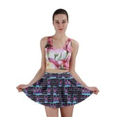 Techno Fractal Wallpaper Mini Skirt