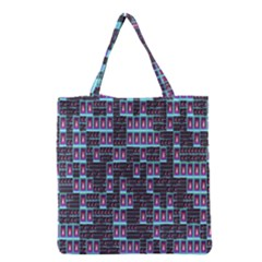 Techno Fractal Wallpaper Grocery Tote Bag