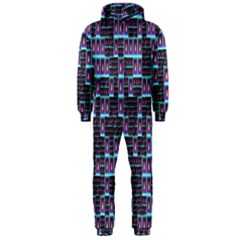 Techno Fractal Wallpaper Hooded Jumpsuit (Men)