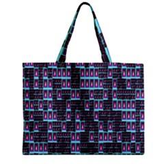 Techno Fractal Wallpaper Medium Zipper Tote Bag