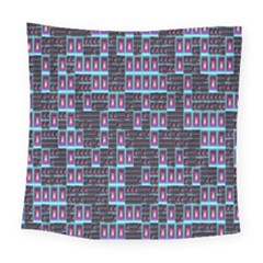 Techno Fractal Wallpaper Square Tapestry (large)