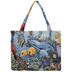 Colorful Aquatic Life Wall Mural Mini Tote Bag