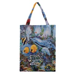 Colorful Aquatic Life Wall Mural Classic Tote Bag