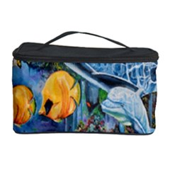 Colorful Aquatic Life Wall Mural Cosmetic Storage Case