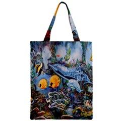Colorful Aquatic Life Wall Mural Zipper Classic Tote Bag