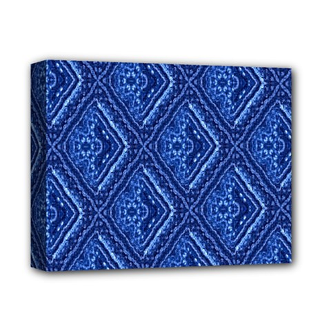 Blue Fractal Background Deluxe Canvas 14  X 11