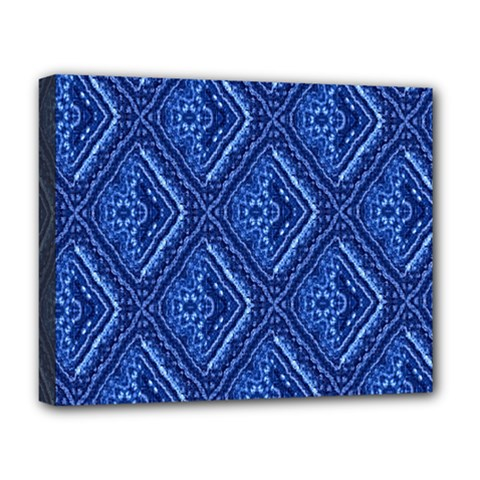 Blue Fractal Background Deluxe Canvas 20  x 16